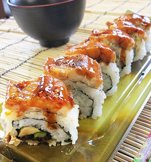 炙り煮穴子の棒寿司